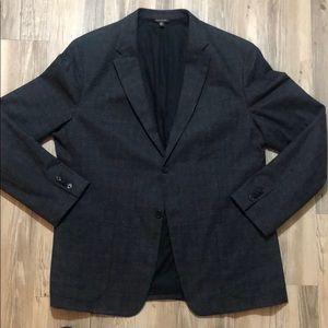 Men's Banana Republic Dark Gray Plaid Sport Coat
